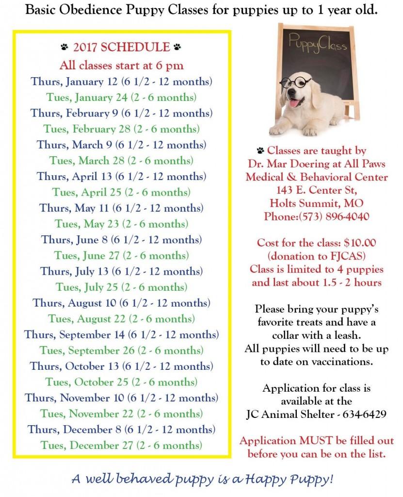 2017 Puppy Class